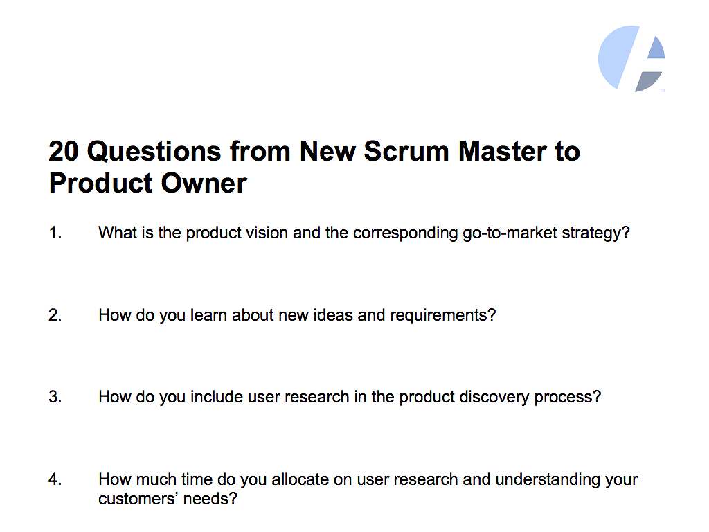 20 Questions To Get Up To Speed As A Scrum Master Dzone Agile