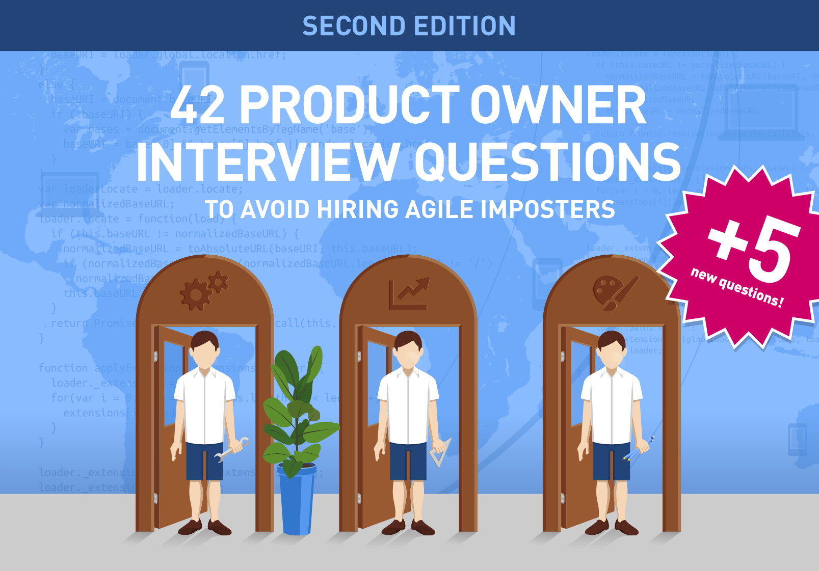Scrum Product Owner Interview: this free ebook provides 42+5 questions w/ answers to help you to avoid hiring Imposters.